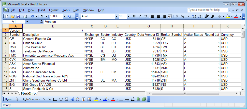 Connect CSI Data to Trading Blox – Stock List Format